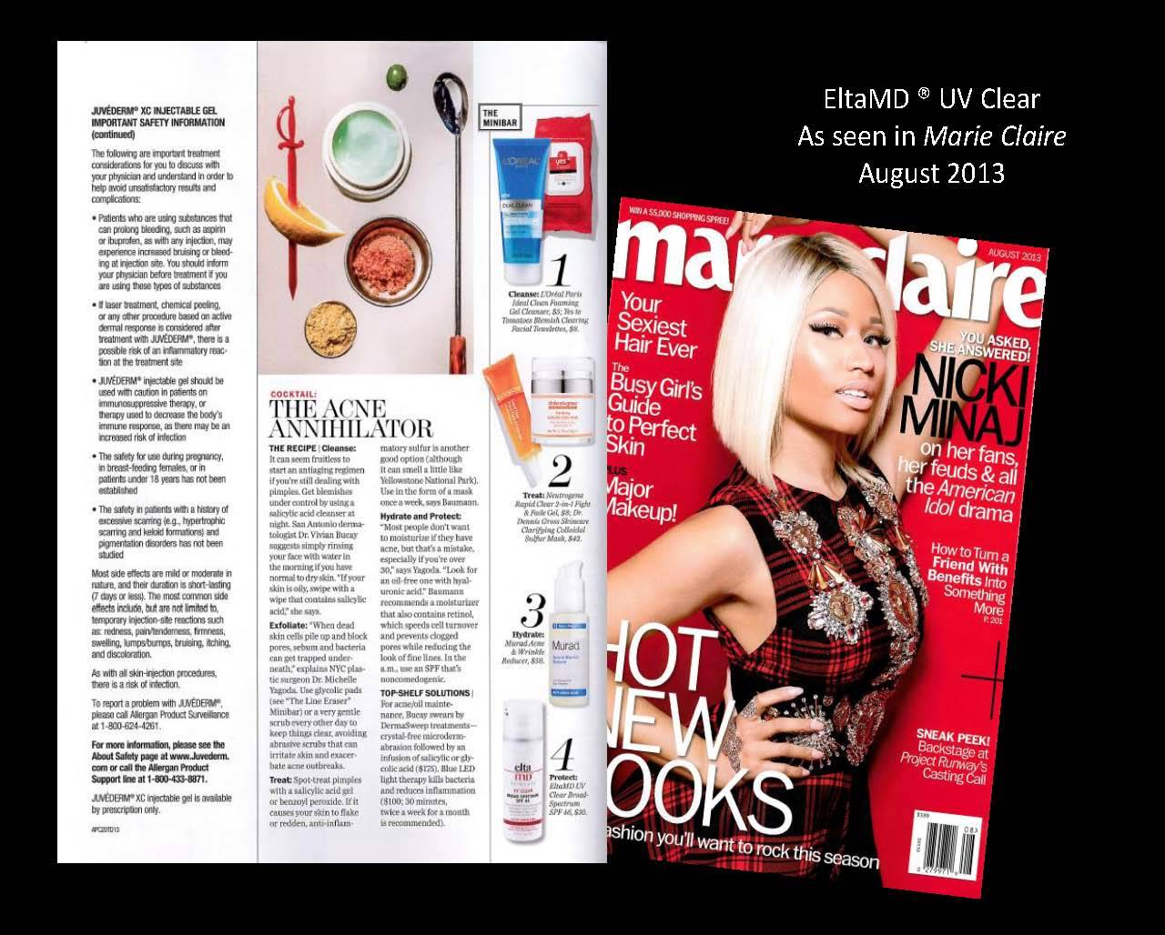 EltaMD products in magazine