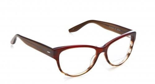 classic cat eye shaped eyeglasses in red