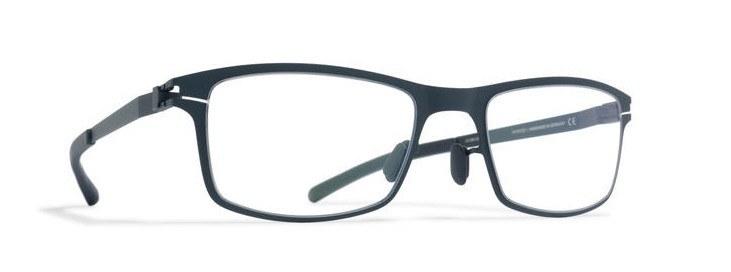 Men's masculine eyeglass frames in navy
