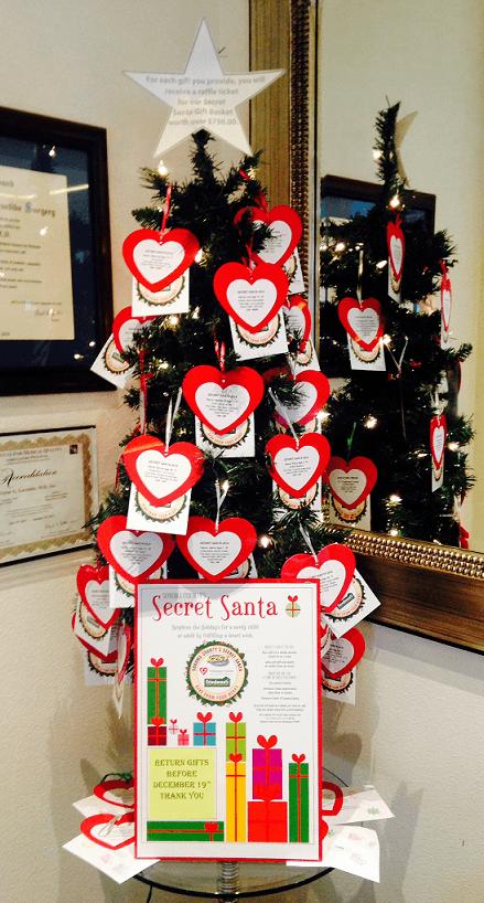 2015 Secret Santa Giving Tree at Artemedica