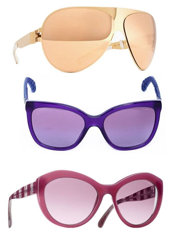 Colorful Sunglasses from Chanel and Mykita