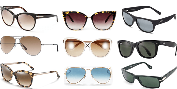 Different Sunglass styles