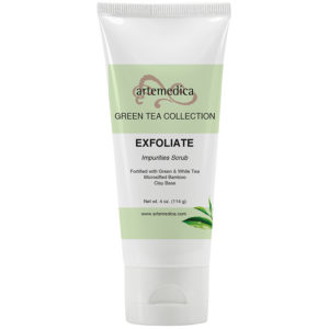 Artemedica skincare Green Tea collection exfoliate impurities scrub