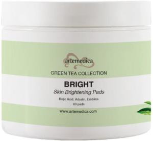 Artemedica skincare Green Tea collection bright skin brightening pads