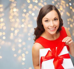 Woman with Gift Certificate