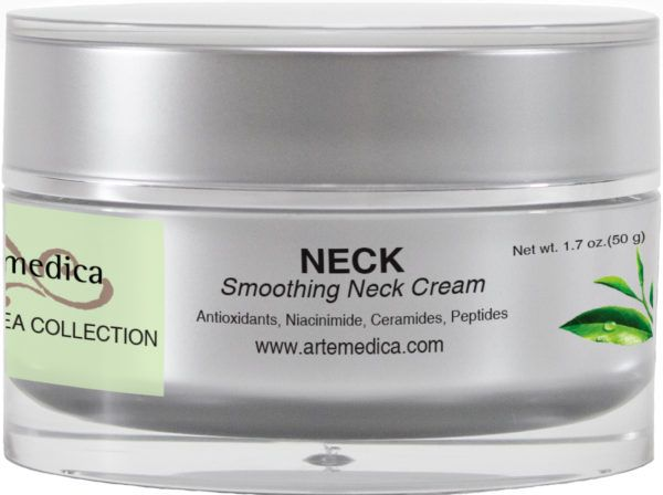 Artemedica skincare Green Tea collection neck smoothing neck cream