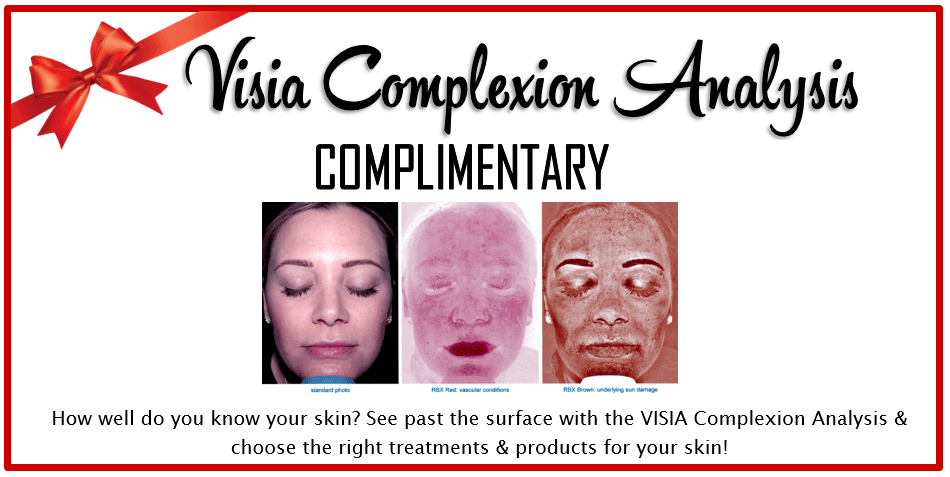 Stop by our 5th Annual Holiday & Peel Event for Visia Complexion Analysis specials