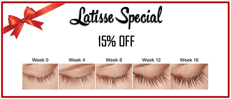 Stop by our 5th Annual Holiday & Peel Event for Latisse specials
