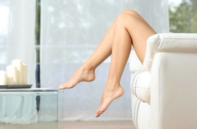 Legs after laser hair removal