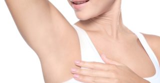 Dry underarms resulting from a miraDry treatment.