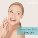 save $100 at artemedica in sonoma county during their beauty days of may