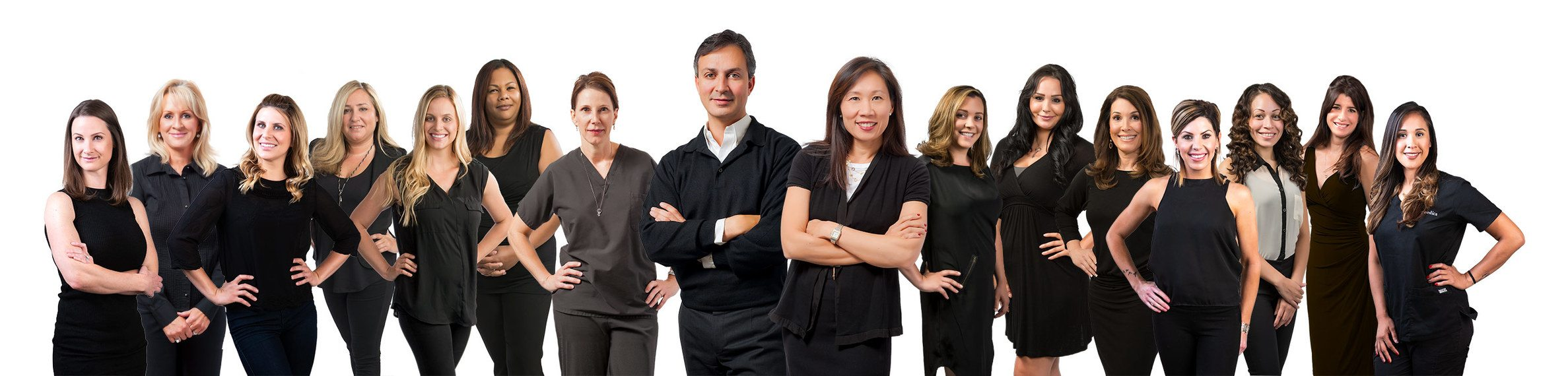 Dr. Victor Lacombe and Dr. Alice Chiang and the estheticians of artemedica in sonoma county
