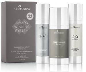 lineup of SkinMedica skincare award winning system