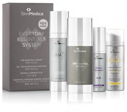 lineup of SkinMedica skincare everyday essentials system