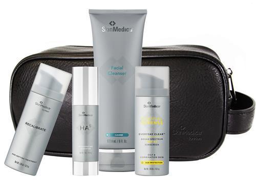 lineup of SkinMedica skincare regimen's kit