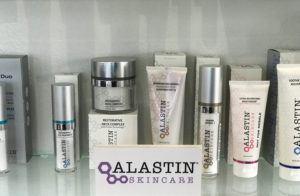 lineup of Alastin skincare