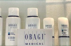 lineup of Obagi skincare