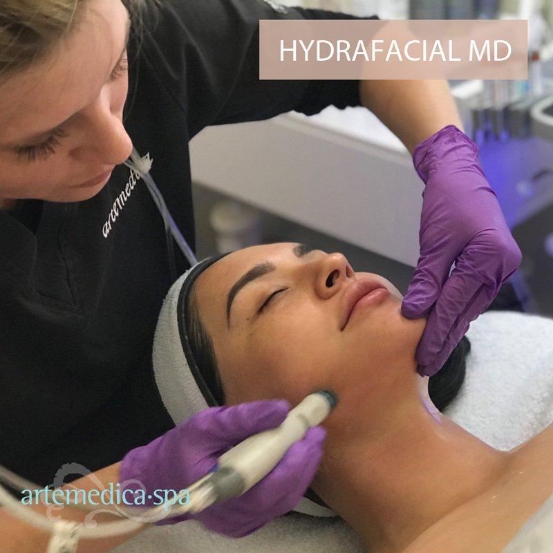 Hydrafacial skin care treatment process