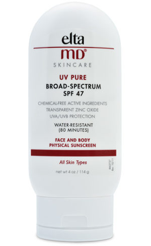 Elta MD skincare UV pure broad-spectrum SPF 47 face and body physical sunscreen