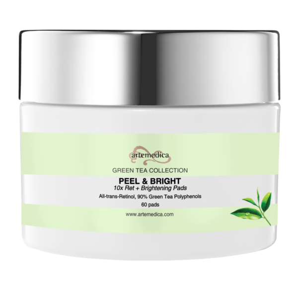 10x All Trans Retinol Pads from Artemedica skincare green tea collection