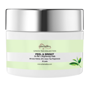5x All Trans Retinol Pads from Artemedica skincare green tea collection