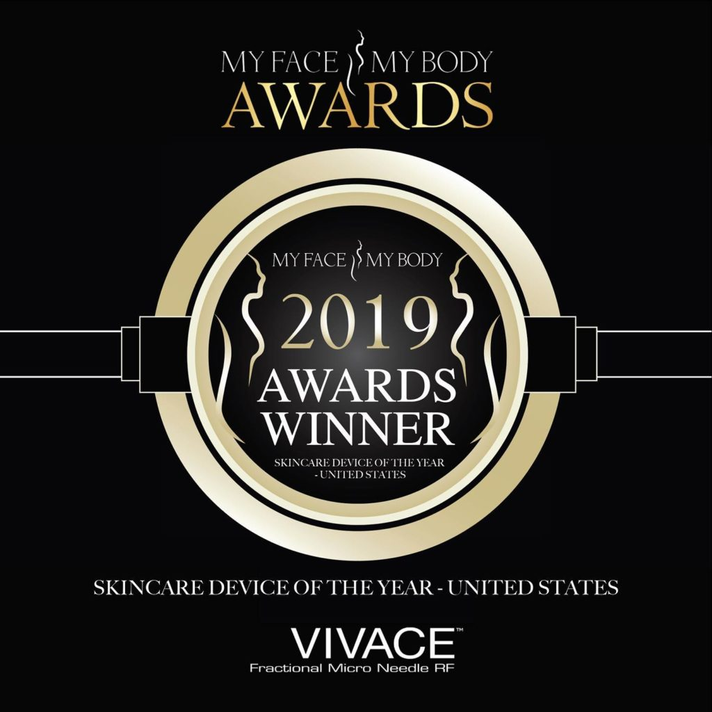 vivace microneedling award for skincare device of the year 2019